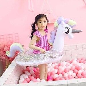 Anillo de natación de flamenco inflat, flotador de piscina de unicornio para bebé, círculo hinchable, Swan Chico, natación, anillo, piscina, juguete, flotador, piscina