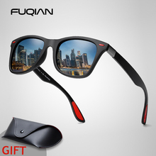 FUQIAN Hot Sale Polarized Sunglasses Men Classic Square Plas
