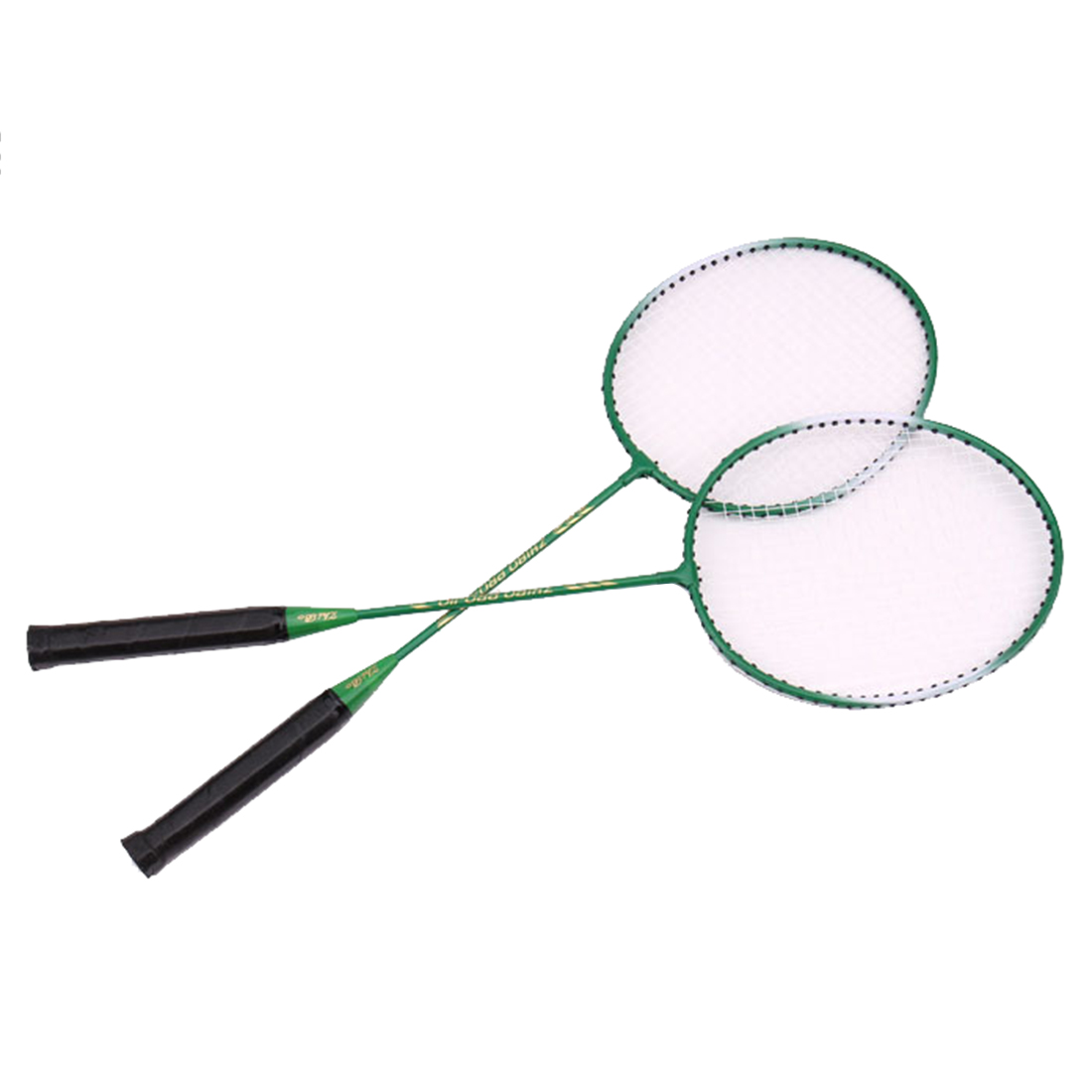 2 Player Badminton Racket Set For Outdoor Games - Green/Red/Blue