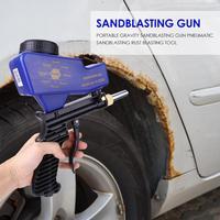 Mini Portable Gravity Sandblasting Gun Pneumatic Sandblasting Rust Blasting Machine Tool