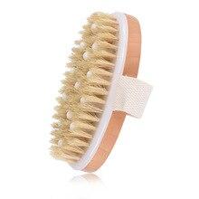 100% New Natural Bristle Bath Brush Exfoliating Wooden Body Massage Shower Brush SPA Woman Man Skin Care Dry Body Brush