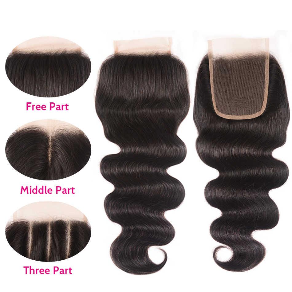 Волосы UNICE Icenu серии remy волосы средняя часть кружева закрытие перуанские волнистые волосы парик из волос Реми швейцарские кружева человеческие волосы 1 шт.