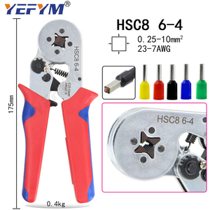 Image 3 - YEFYM HSC8 6 4/6 6 Crimping Pliers Kit YE 1R Stripping Cutting Plier with 1020pcs/box Tube Terminal Suit Electric Tools Set