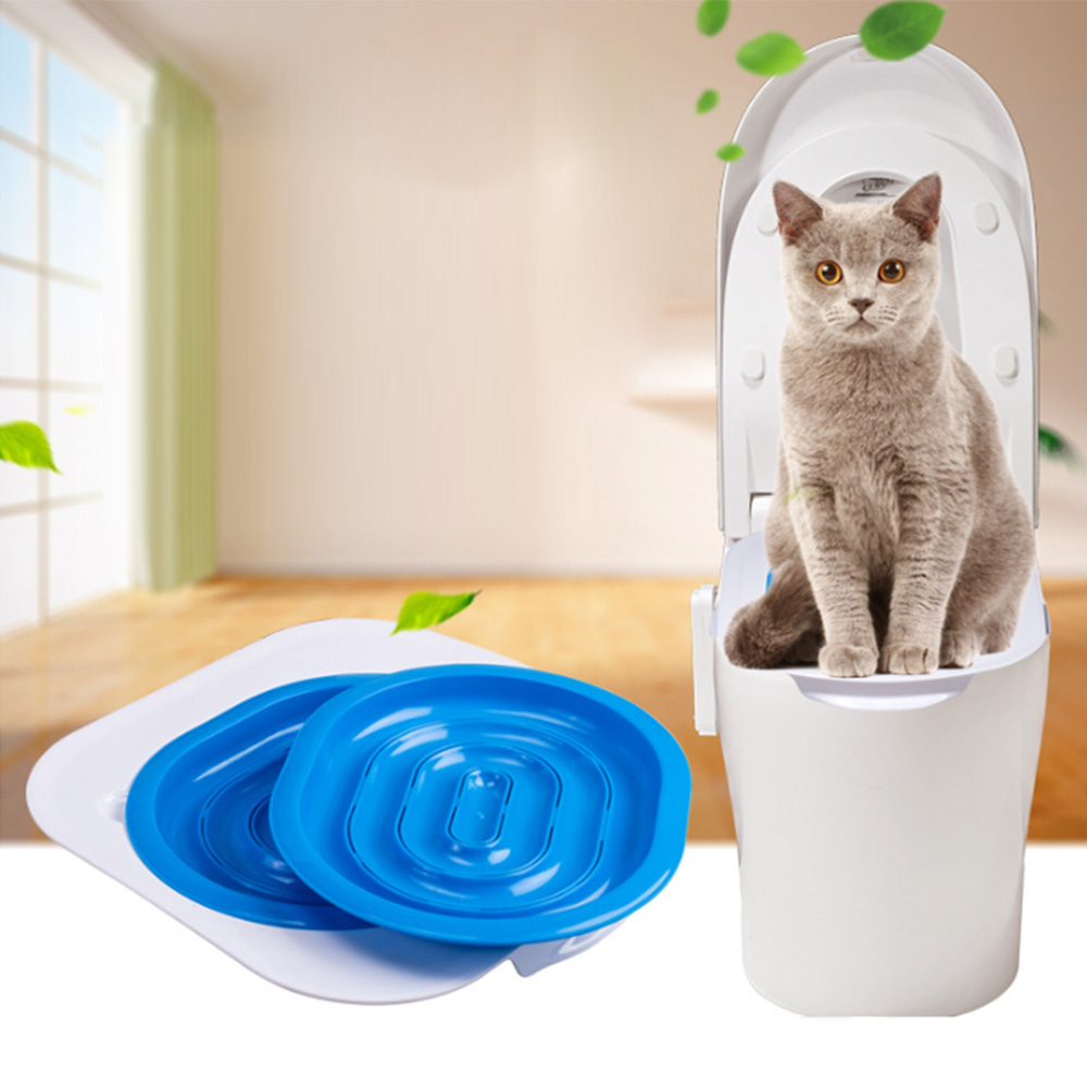 Cat Toilet Seat Training Kit Puppy Litter Potty Tray Mat Pets Cleaning Supplies Training Cat Manufacturers Toilet Seat Training