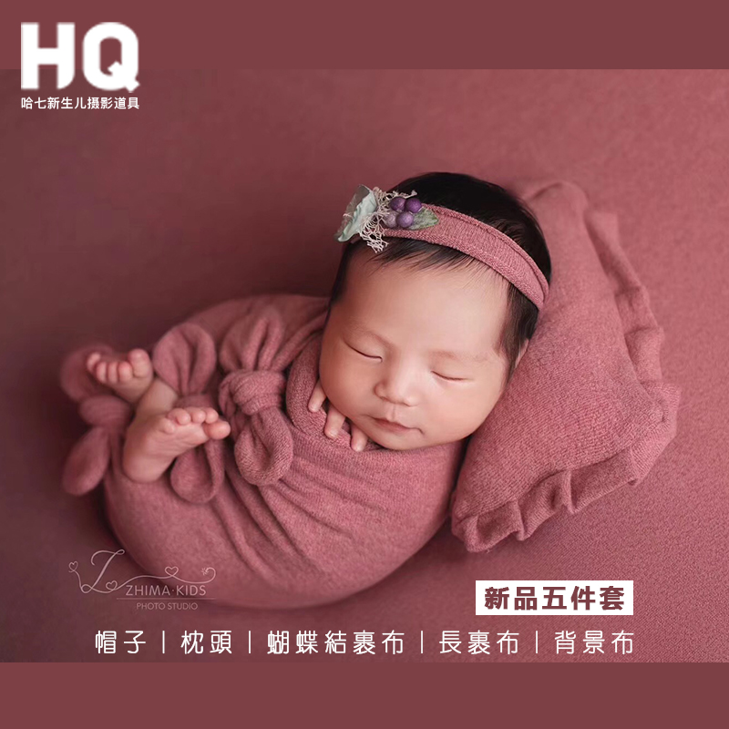 Newborn Photography Props Background Wrap Pillow And Hat Baby Photography Background Infant  Photo Studio  Accessories Children