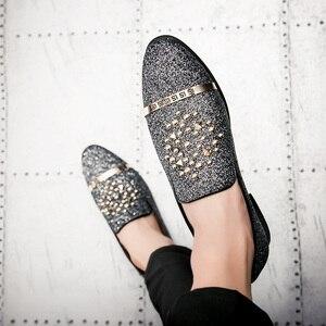 Image 5 - EMOSEWA chaussures en strass pour hommes, chaussures de luxe, Style italien, à la mode, chaussures formelles, en boîte de nuit, mariage, mocassins, 2019