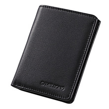 0.6cm Ultra-thin Leather Wallet Men Wallets Vintage Genuine for Cowboy Top Thin To Put Free Shipping