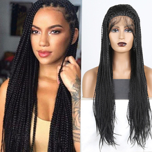 Braided Wigs Lace-Front-Wig Synthetic Black Women Baby-Hair Full-Head 26-Inches NEW