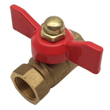 High Quality 3 Points 3/8 Double Inner Ball Valve Thickened Inlet Valve Butterfly Handle Ball Valve Double Internal Ball Valve