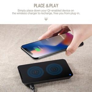 Image 4 - Cargador inalámbrico ROCK para iPhone X 8 plus 10W, cargador Qi, carga inalámbrica para Samsung Galaxy S9 S8 S7 Edge, Cargador USB Pad