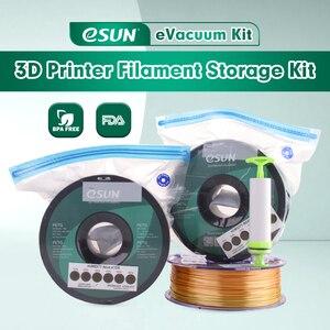 Image 2 - ESUN sac de rangement Kit 3D impression soie PLA PETG TPU Filament scellé sous vide garder au sec éviter lhumidité pour les bobines dimprimante 3D
