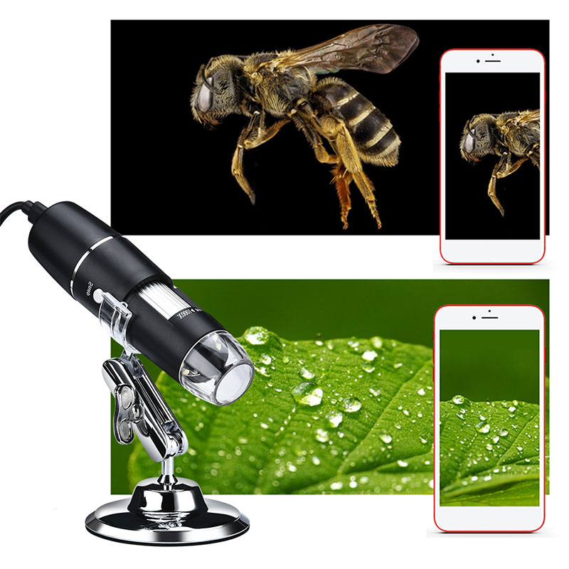 ABS Endoscope 1600X Computers Waterproof Digital Microscope Hand Held Endoscope Practical 0.3 Mp Ear Cleaning Tool For Widows