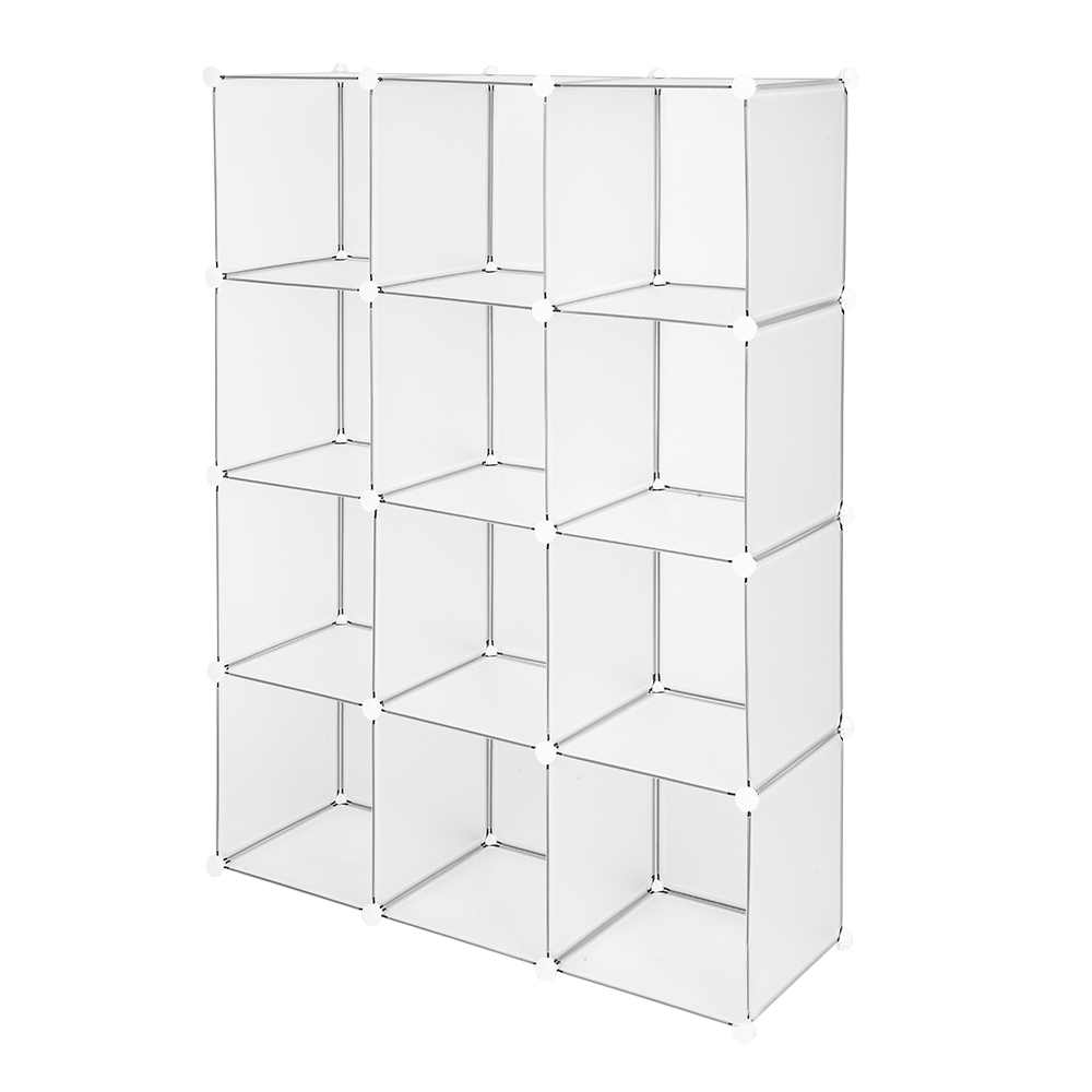 【US Warehouse】Cube Storage 12-Cube Book Shelf Storage Shelves Closet Organizer Shelf Cubes Organizer Bookcase