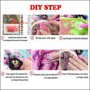 Image 5 - 5pcs/set Butterfly flowers Home Decoration DIY diamond painting Cross Stitch wall decoration diamond Embroidery Multigang figure