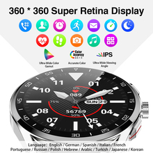 360*360 HD IPS screen Bluetooth Call men Smart watch Heart Rate Monitor IP68 swim sport smartwatch custom dials For Android IOS
