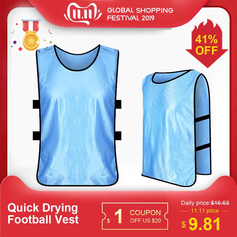 Adults 12 PCS Soccer Pinnies Quick Drying Football Vest  Jerseys Scrimmage Sports Vest Breathable Team Training Bibs Bibs Soccer