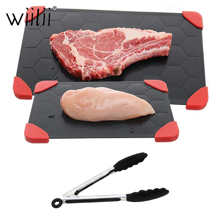 Turtle Shell Defrosting Trays Thaw Frozen Food Meat Fruit Quick Defrosting Plate Board Defrost Kitchen Gadget Tool Thawing Plate image