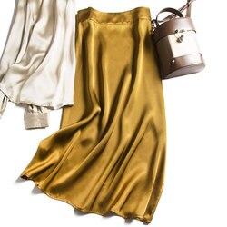 2020 nueva moda mujer 100% camisa de satén de seda pura BS0001