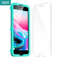ESR-Protector de pantalla para iPhone X, 8, 7 Plus, 6, 6S, 5S SE, película protectora de vidrio templado 9H