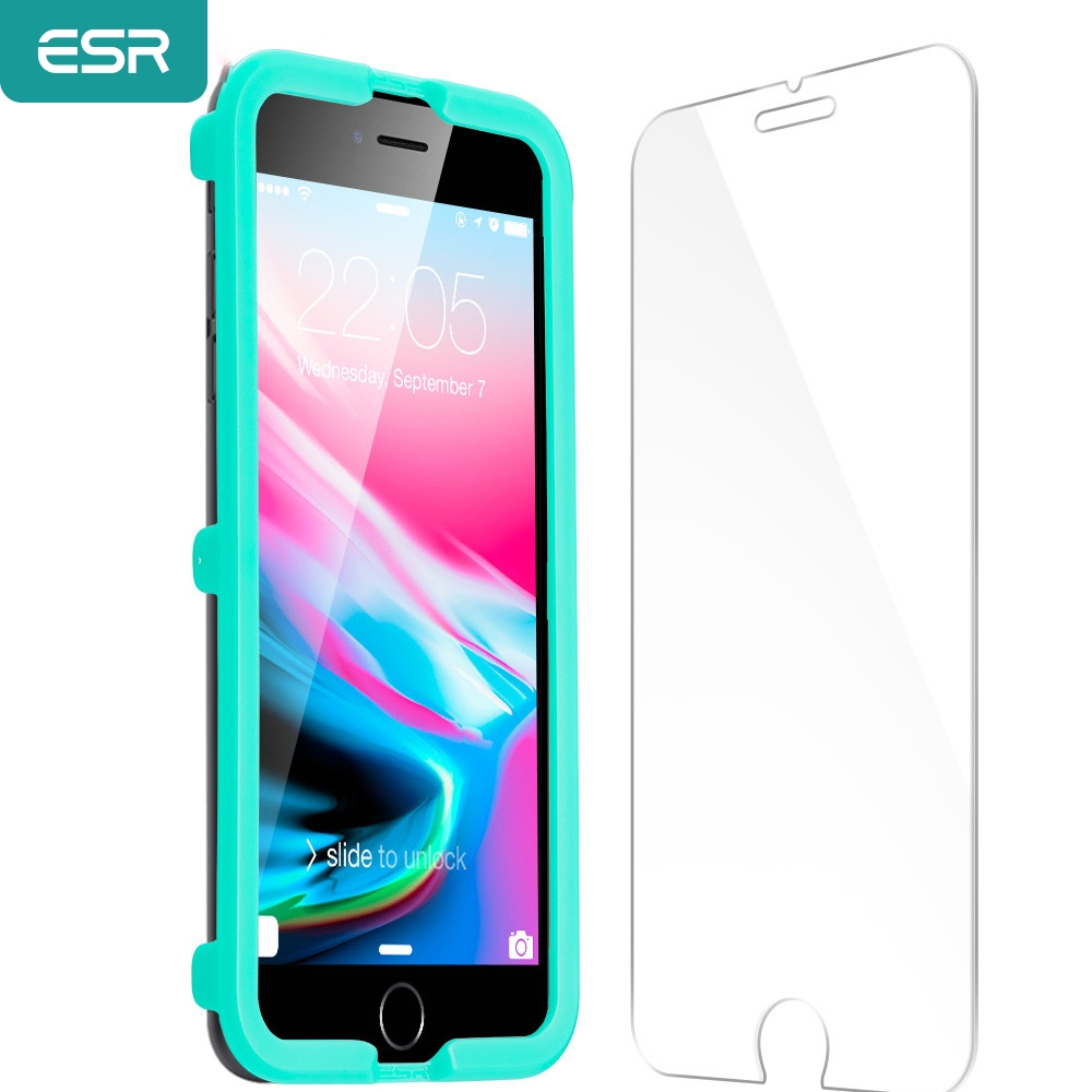ESR Screen Protector for iPhone X 8 7 Plus 6 6S 5S SE Tempered Glass 9H Protector Film for iPhone X Screen Protector Flim Glass