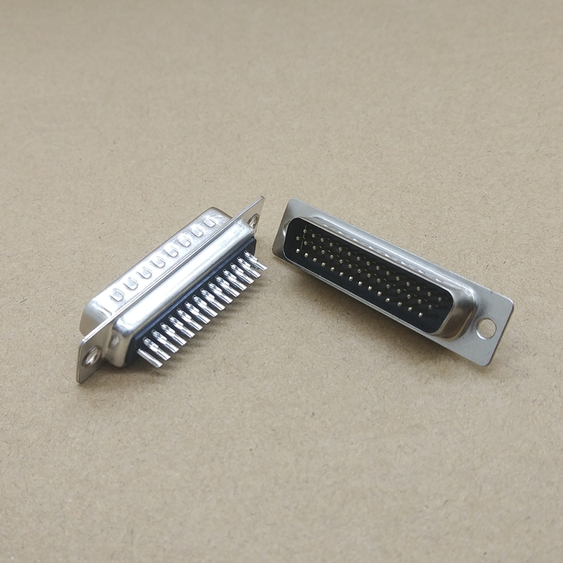 2 Pcs New Serial Port D-SUB 44 Pin Male Solder Type Plug Adapter <font><b>Connector</b></font> 3 Rows <font><b>DB44</b></font> image