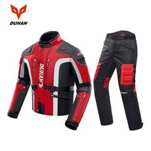 DUHANรถจักรยานยนต์แจ็คเก็ตMotoกางเกงMotocross Enduroขี่กางเกงMotocross Off Road Racingกีฬาเข่าป้องกันกางเกง