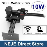NEJE Master 2 mini 10W Laser Engraving Cutting Machine Laser Engraver with Wireless APP Control Roll Protection