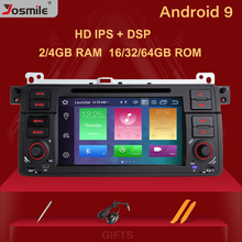 Josmile samochodowy odtwarzacz multimedialny 1 Din Android 9.0 dla BMW E46 M3 Rover 75 Coupe nawigacja GPS DVD Radio samochodowe 318/320/325/330/335
