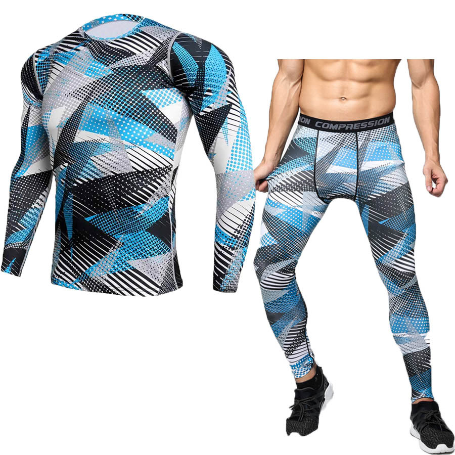 Compression sport suits fast drying sports sport sport men running clothes sets joggers training gym fitness training set 5