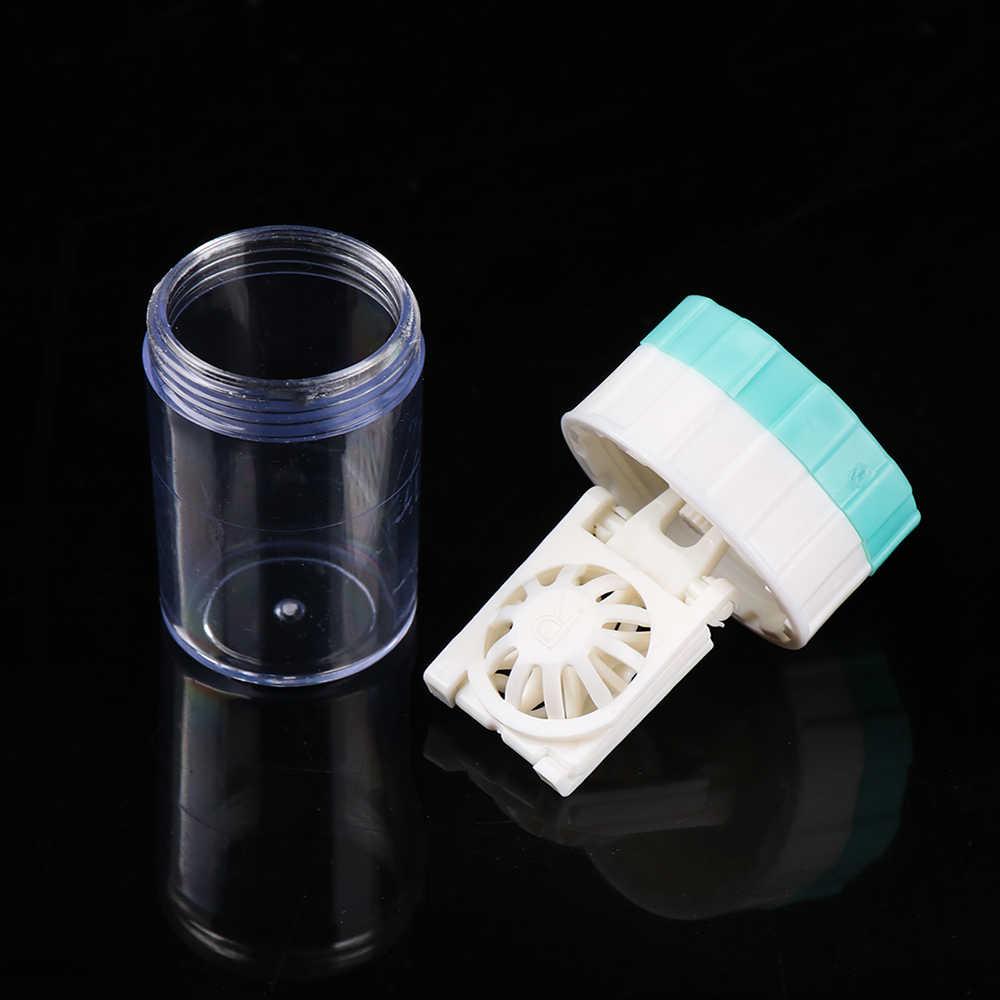 1Pc HOt moda Mini obrotowe cukierki kolorowe soczewki kontaktowe etui na okulary okulary podróżne soczewki Box dla Unisex zestaw do pielęgnacji oczu