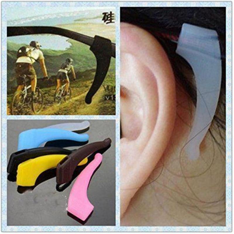 5 Pairs Soft Comfortable Silicone Eyeglasses Anti Slip Temple Tip Ear Hook Sunglasses Glasses Holder For Children Kids 5 Colors