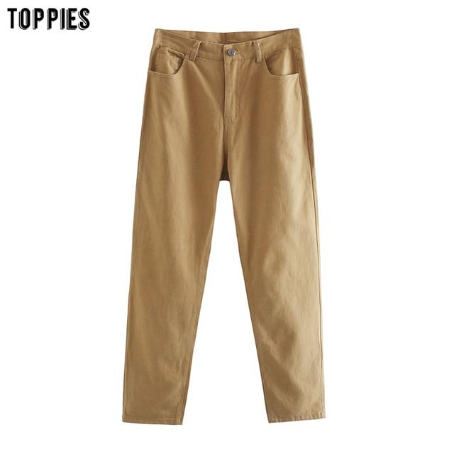 TOPPIES Autumn Woman pants High Waist Trousers Cotton Sweatpants Plus Size Clothing 2020 Clothes 4
