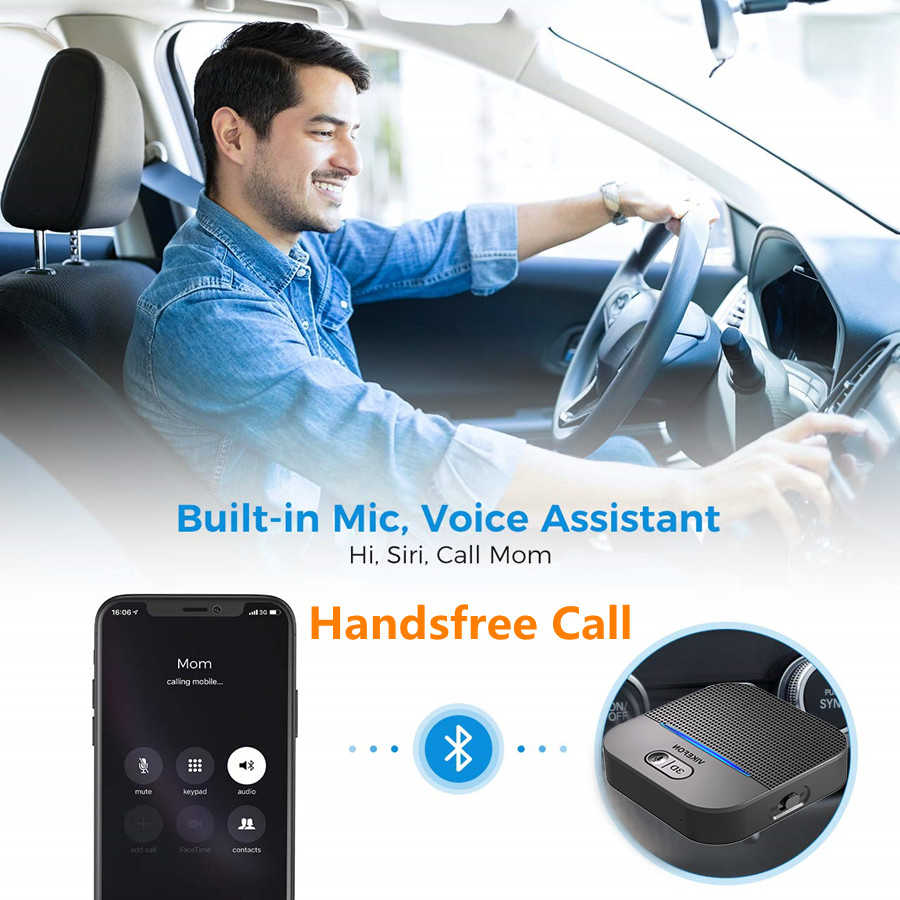 3D ve AptX LL Bluetooth 5.0 RCA ses alıcısı 3.5mm Jack Aux müzik kablosuz adaptör otomatik hoparlör araba verici 50M ve 20H