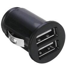 Универсальное Мини Автомобильное зарядное устройство USB для автомобиля DC 12 В 2.1A двойное USB зарядное устройство 2 порта адаптер питания высокое качество Автомобильная электроника запчасти