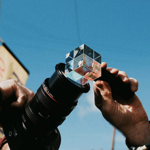 Crystal Lens Filter w/ Tripod Hand Grip For DSLR SLR Camera Monopod Photography LED Light Stand Holder Smartphone Live Tripods