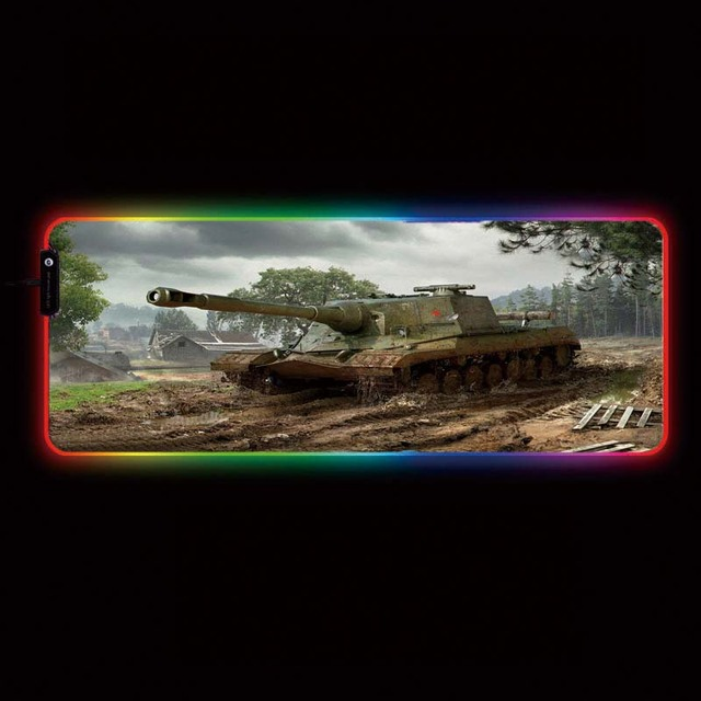alfombrilla de ratón de varios tamaños / Multi size mouse pad. 02. World of Tanks RGB USB LED.