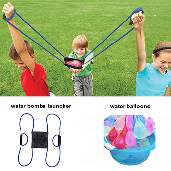 222PCS Magic Water Balloons Launcher Water Bombs Swimming Pool Beach Toys For Kids  Balloon 3 Person Launchers War Game