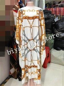 Image 1 - Robe nouvelle mode, Bazin imprimé Dashiki, longue robe/robe, Yomadou, motif de couleur surdimensionné, longueur: 130cm buste: 130cm