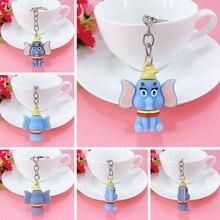 New PVC cartoon flying elephant key ring pendant girl bag car ornaments children birthday gift
