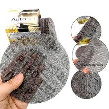Discos de lijado abrasivos de malla, herramienta de lijado libre de polvo de 5 pulgadas, 125mm, antibloqueo, lija de molienda seca de 80 a 240 grano, 10 Uds.