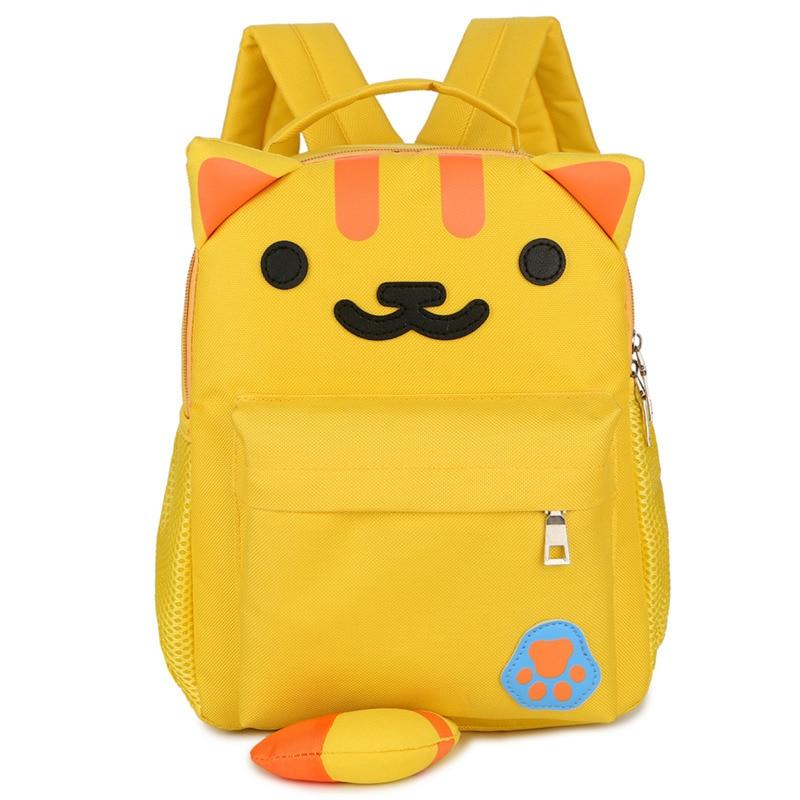 CHILDREN'S Bag Cute Adorable Cartoon Little Tiger Backpack Cool Waterproof Oxford Cloth Kindergarten Small Bookbag