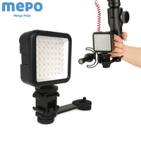 Osmo móvel 3 handheld cardan fotografia led barra de extensão do microfone luz para dslr zhiyun suave 4 dji osmo 2 sapata quente montagem