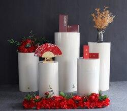 Cylindre rond plinthe accessoires de mariage cylindrique dessert table mariage cylindrique dessert table signe dans la zone décorations de fête