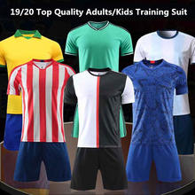 2019 / 2020 Blank Football jerseys Soccer Jersey & shorts Adults & Kids tracksuit Soccer Training Suit Sportswear Customized(China)