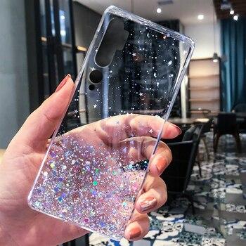 Brillo de papel de aluminio caso TPU Bling para Xiaomi Mi 5X 6X 8 9 SE 9T 10 A1 A2 A3 CC9e CC9 Pro Nota 10 A1 A2 A3 Lite F1