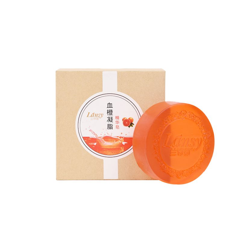 Blood Orange Essence Handmade Soap Moisturizing Oil-control Soap Brighten Skin Tone Crystal Soap