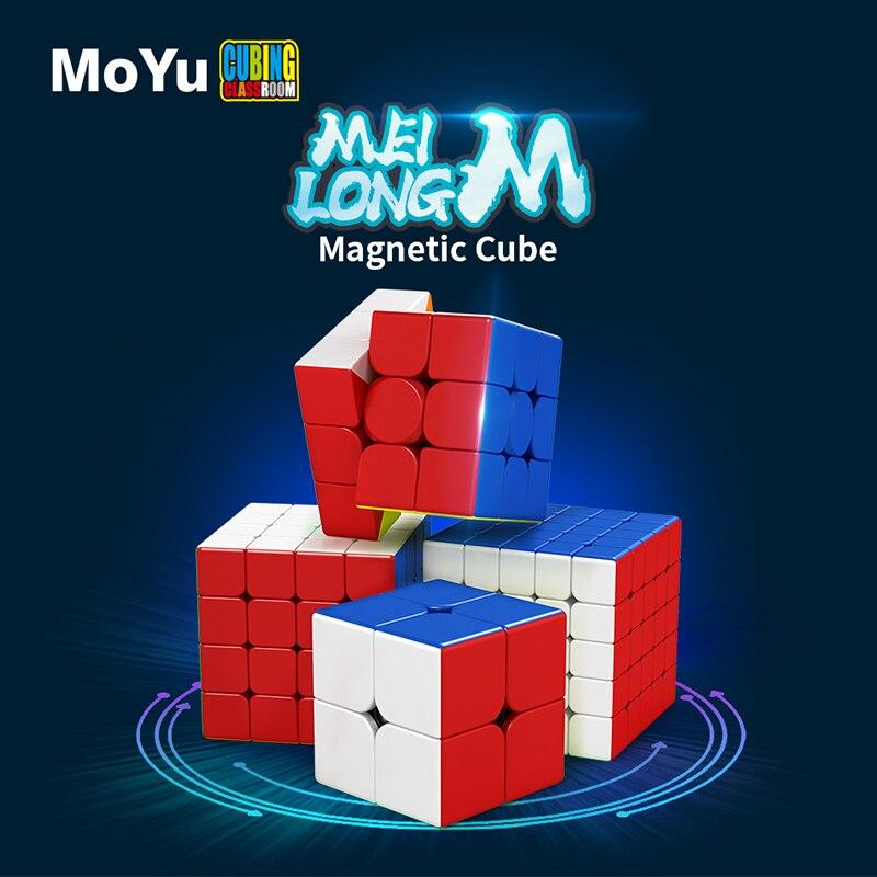 Cubo magnético MoYu Meilong de 2M, 3M, 4M, 5 M, Meilong, 2x2, 3x3, 4x4, 5x5, Cubo de velocidad, juguetes educativos Cubo mágico sin etiqueta MoYu 3x3x3 meilong, Cubo de rompecabezas, cubos de Velocidad Profesional, juguetes educativos para estudiantes