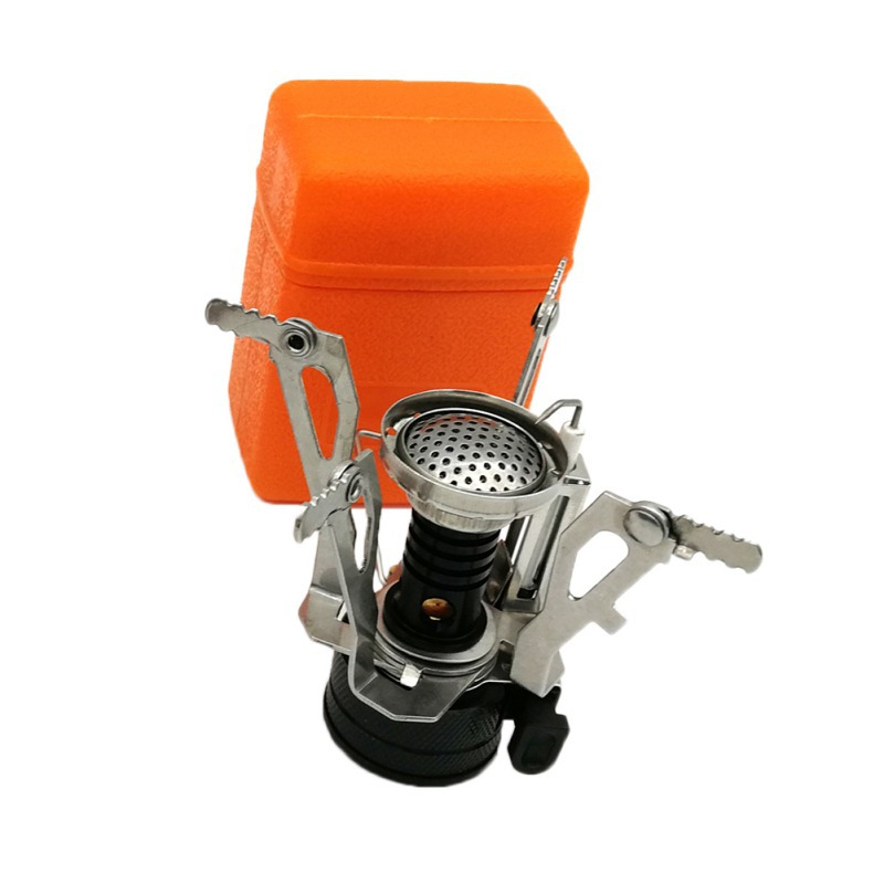 Camping Equipment Gas-burner Squeeze Stove Burner Lightweight Gas Pocket Mini Cooking Stove Gas Stove For Outdoor Folding Campin image