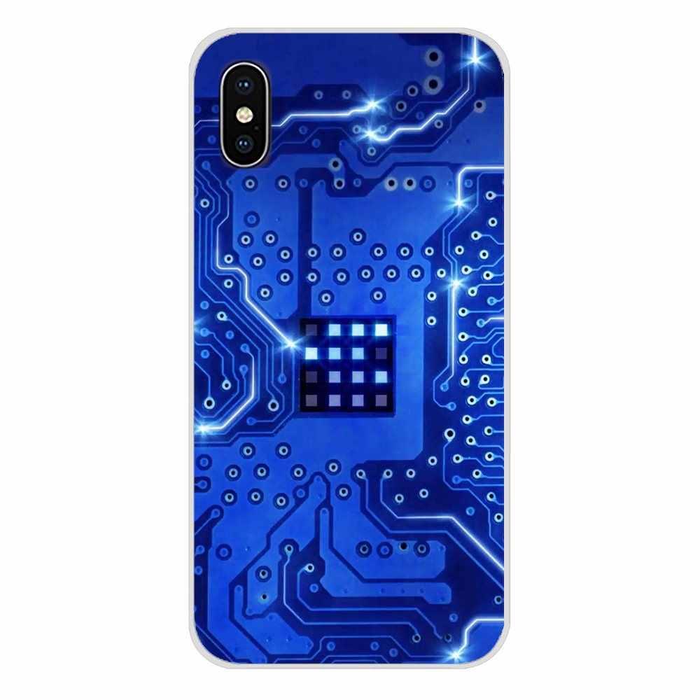 Para huawei g7 g8 p8 p9 p10 p20 p30 lite mini pro p inteligente mais 2017 2018 2019 circuito placa-mãe computador capa do telefone móvel saco