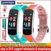 Reloj inteligente Original C07Q para niños, pulsera con Monitor de ritmo cardíaco, presión arterial, oxígeno, resistente al agua IP67